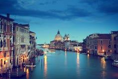 Grand Canal and Basilica Santa Maria della Salute, Venice Royalty Free Stock Images