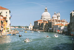 Grand Canal and Basilica Santa Maria della Salute Royalty Free Stock Photos