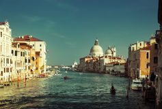 Grand Canal and Basilica Santa Maria della Salute Royalty Free Stock Photography