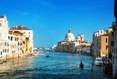 Grand Canal and Basilica Santa Maria della Salute Royalty Free Stock Photography