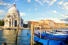 Grand Canal and Basilica Santa Maria della Salute stock image
