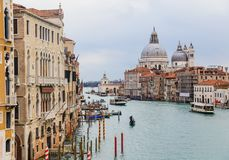 Grand Canal and the Basilica Santa Maria della Salute.Venice, Italy Royalty Free Stock Images