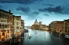 Grand Canal and Basilica Santa Maria della Salute, Venice, Italy. Europa stock image