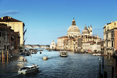 Grand Canal and Basilica Santa Maria della Salute, Venice, Italy Royalty Free Stock Images