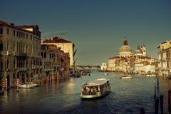 Grand Canal and Basilica Santa Maria della Salute, Venice, Italy Stock Images