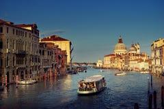 Grand Canal and Basilica Santa Maria della Salute, Venice, Italy Stock Image