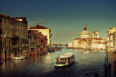 Grand Canal and Basilica Santa Maria della Salute, Venice, Italy Royalty Free Stock Photo