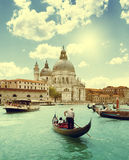 Grand Canal and Basilica Santa Maria della Salute, Venice Royalty Free Stock Photos