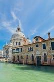 Grand Canal with Basilica Santa Maria della Salute in Venice Stock Photo