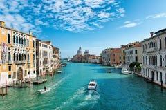 Grand Canal and Basilica Santa Maria in Venice Royalty Free Stock Photos