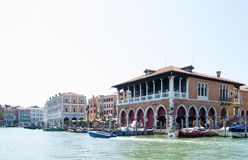 The Grand Canal and architecture in Venice, Italy. Stock Images