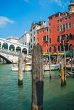 Grand canal of beautiful Venice. This shot is taken in Venice, Italy, Europe. It presents the beautiful canal and colorful architecture of the Venetian old city Stock Image