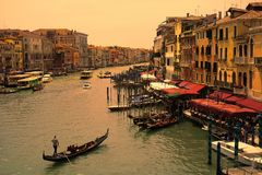 Free Grand Canal Before Sunset Stock Photography - 150514342