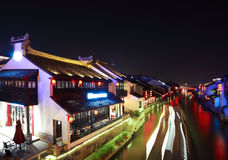 The Grand Canal from Beijing to Hangzhou at night Stock Images