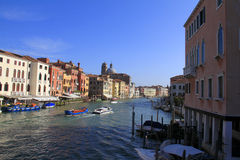 Travel Italy: Grand canal in Venice Stock Image