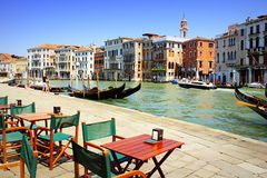 Grand Canal Cafe Venice Italy Stock Image