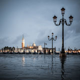 Grand Canal on a cloudy day, Venice. Stock Photo