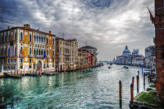 Grand Canal on a cloudy day Stock Image