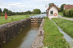 Canal lock Royalty Free Stock Photos