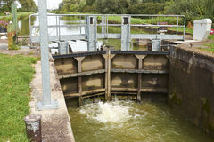 Canal lock Royalty Free Stock Images