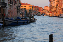 Grand Canal at Dawn. Grand canal in Venice early in the morning Royalty Free Stock Photography