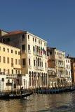 Grand Canal de Veneza e de suas construções Fotos de Stock