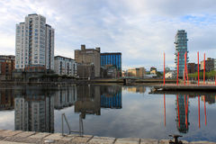 Grand Canal Dock Reflections Stock Photos