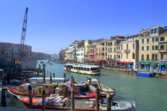 Grand Canal dock,Venice Royalty Free Stock Photos