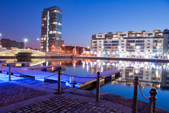 Grand Canal Docks. By Night Royalty Free Stock Photo