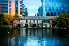 Grand Canal Dublin City Centre royaltyfria foton