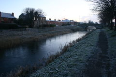 Grand canal, Dublin royalty free stock photography