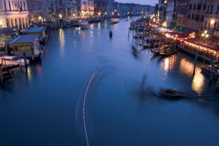 Grand Canal at Dusk. An evening view of the Grand Canal in Venice, Italy Royalty Free Stock Images