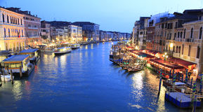 Grand Canal at dusk, Venice Stock Photo