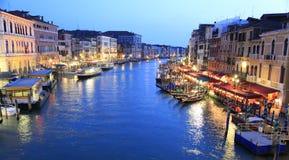 Grand Canal at dusk, Venice Stock Photo