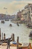 Grand Canal el canal más famoso de Venecia Imagen de archivo libre de regalías