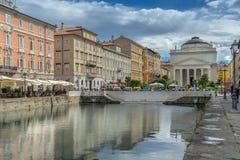 Grand Canal em Trieste fotos de stock royalty free