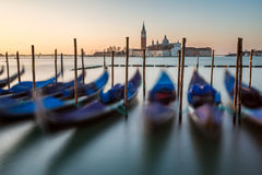 Grand Canal Embankment and San Giorgio Maggiore Church Stock Photo