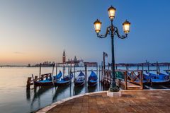 Grand Canal Embankment and San Giorgio Maggiore Church Stock Images