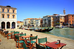 Grand Canal embankment Venice Italy Royalty Free Stock Photography