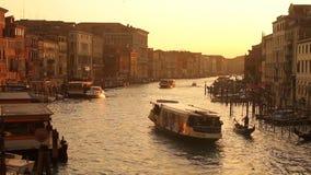 Grand Canal en Venecia almacen de video