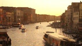 Grand Canal en Venecia metrajes