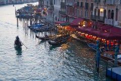 Grand Canal en Venecia, Italia Foto de archivo libre de regalías