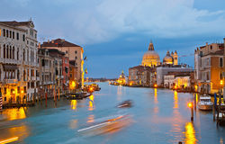 Grand canal at evening. Venice Royalty Free Stock Images