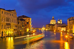 Grand canal at evening Stock Photos