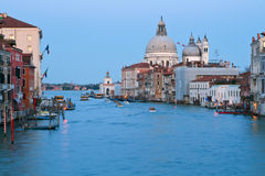 Grand Canal in the evening, Venice Royalty Free Stock Image