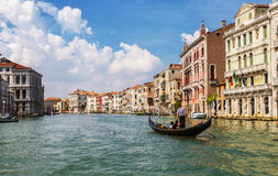 The Grand canal with floating gondolas, Venice Royalty Free Stock Image