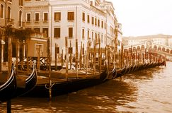 Grand Canal and gondola Stock Image