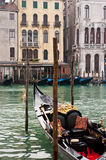 Grand Canal and Gondola, Venice, Italy Stock Images