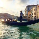 Grand Canal. Gondola Venice, Italy Stock Photo