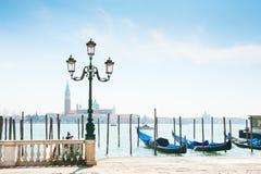 Grand Canal and gondolas in Venice, Italy Stock Photos